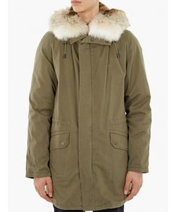 Yves Salomon | Khaki Rabbit-Fur Lined Parka