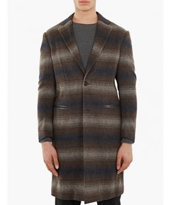 Casely-Hayford | Checked Wool Chesterfield Coat