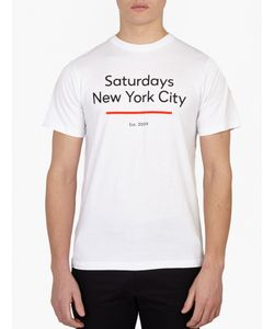 Saturdays Surf Nyc   Cotton Logo T-Shirt