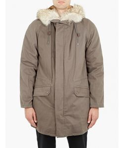 Yves Salomon | Dark Grey Rabbit-Fur Lined Parka