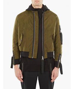 Matthew Miller   Olive Nylon Kane Flight Bomber Jacket