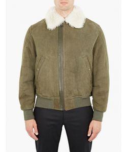 Yves Salomon | Khaki Suede And Shearling Jacket