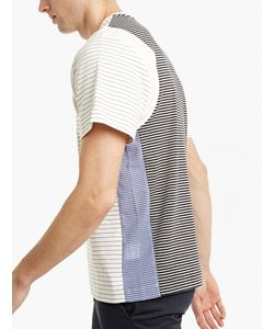 Tim Coppens | Striped Multi Panel Cotton T-Shirt
