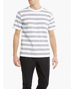 White Mountaineering | Striped Logo T-Shirt