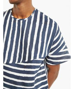 E. Tautz | Striped Panelled Cotton T-Shirt
