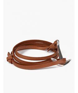 Miansai | Tan Leather And R Anchor Bracelet