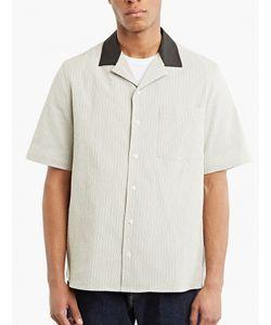 Raf Simons | Striped Contrast Material Bowling Shirt