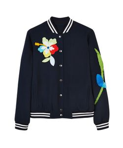 Mira Mikati | Sequin Patch And Embroidered Bomber Jacket