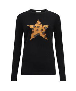 Bella Freud   Iggy Leopard Star Jumper Wool Mix
