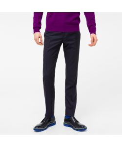 Paul Smith | Slim-Fit Two-Tone Micro-Check Wool Trousers