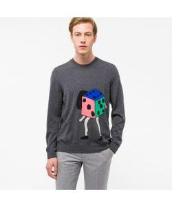 Paul Smith   Dancing Dice Placement Intarsia Merino Wool Sweater