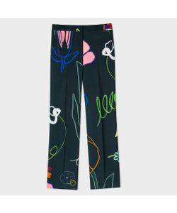 Paul Smith | Parallel Leg Trousers With Crayon Print