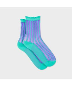 Paul Smith | Womens And Semi-Sheer Stripe Socks
