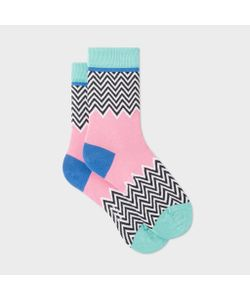 Paul Smith | Pastel Zig Zag Pattern Socks