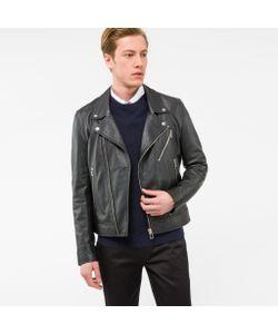 Paul Smith | Leather Asymmetric-Zip Biker Jacket