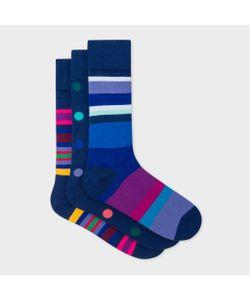 Paul Smith | Mixed-Stripe And Polka Dot Socks Three Pack
