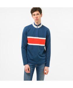 Paul Smith | Half-Zip Loopback-Cotton Sweatshirt With Contrast Stripe