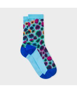 Paul Smith | Leopard Motif Semi-Sheer Socks
