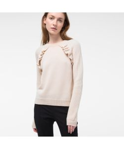 Paul Smith | Womens Wool Sweater With Frill Detailing