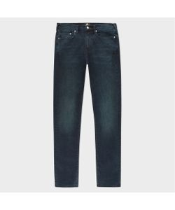 Paul Smith   Slim-Fit 11.8oz Over-Dyed Wash Super Soft Cross-Hatch Stretch Jeans