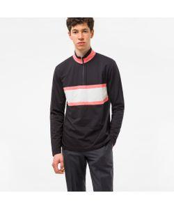 Paul Smith | Half-Zip Loopback Sweatshirt With Contrast Stripe