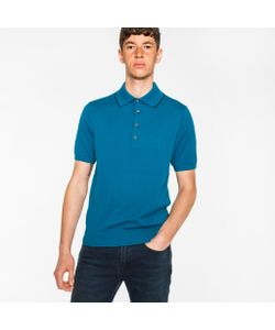 Paul Smith | Knitted Polo Shirt With Collar Tipping