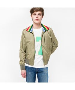 Paul Smith | Cotton And Cupro-Blend Pilot Jacket With Stripe Collar