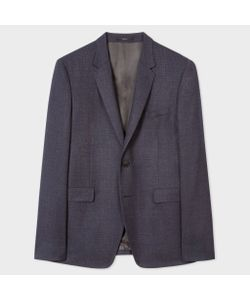 Paul Smith   Slim-Fit Two-Tone Navy And Textured Blazer
