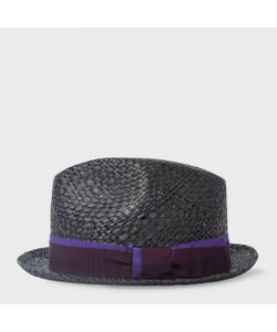 Paul Smith | Mens Straw Trilby Hat