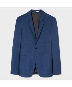 Paul Smith | Slim-Fit And Slate Check Wool-Blend Blazer