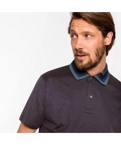 Paul Smith | Tri-Dot Stripe Contrast Stripe-Collar Polo Shirt