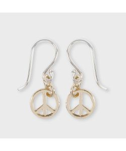 Paul Smith | Womens Small Peace Sign Earrings
