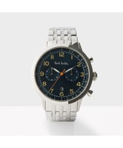 Paul Smith   Mens Petrol And Silver Precision Chronograph Watch