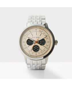 Paul Smith   Mens Rose Gold And Silver Precision Watch