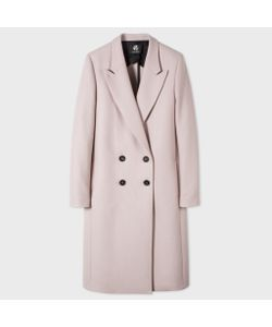 Paul Smith   Womens Pale Wool-Cashmere Double-Breasted Coat