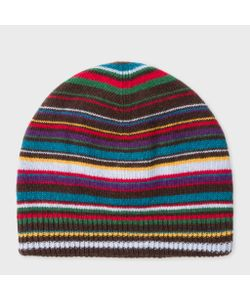 Paul Smith | Mens Wool-Blend Beanie Hat