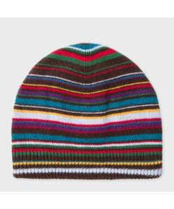 Paul Smith | Mens Wool-Blend Beanie Hat