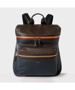 Paul Smith | Mens Navy And Lamb Leather Backpack