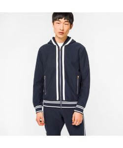 Paul Smith | Loopback Zip-Through Hoodie With Double-Stripe