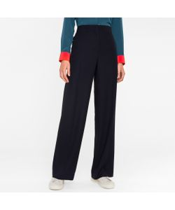 Paul Smith | Wool-Viscose Parallel Leg Trousers