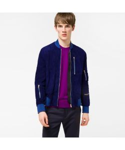 Paul Smith | Mens Suede Multi-Pocket Bomber Jacket