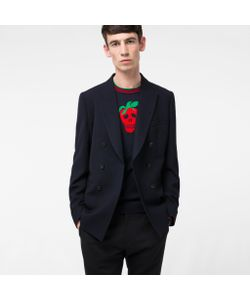 Paul Smith | Mens Tailo-Fit Navy And Double-Breasted Wool Blazer