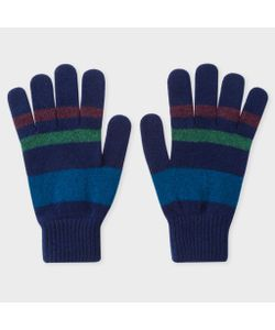 Paul Smith | Mens Striped Lambswool Gloves