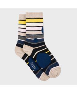 Paul Smith | Womens Spotted Stripe Socks