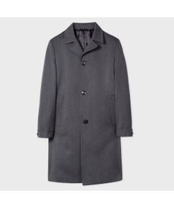 Paul Smith | Wool Herringbone Top Coat