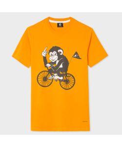 Paul Smith | Slim-Fit Cycling Monkey Print T-Shirt