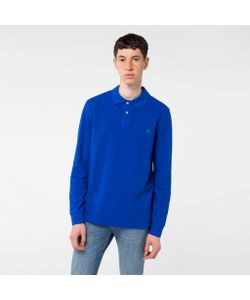 Paul Smith | Mens Ps Logo Long-Sleeve Organic-Cotton Polo Shirt