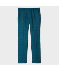 Paul Smith | Slim-Fit Linen And Silk-Blend Check Trousers