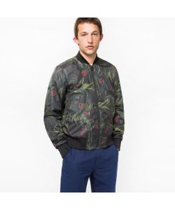 Paul Smith | Mens Cockatoo Print Bomber Jacket
