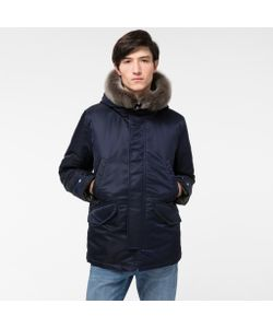 Paul Smith | Mens Down-Filled Short Parka With Sheepskin Trim